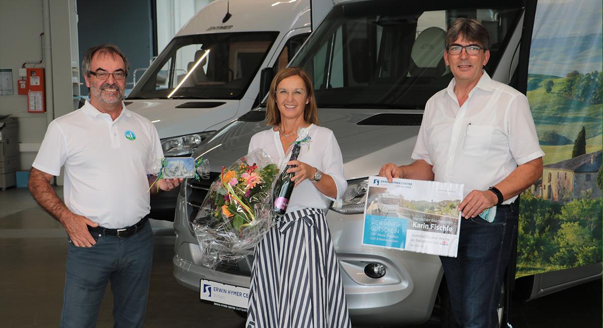 Die Gewinnerin des Messe-Triathlon 2020 des Baden-Württembergischen Golfverbandes